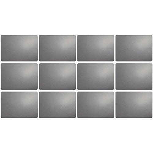 ASA Selection 7806420 table top Lederoptik Tischset, 46 x 33 cm, Kunststoff, cement (12er Pack)