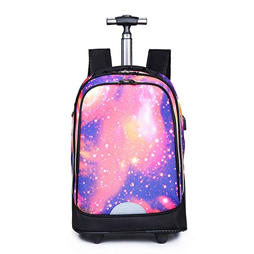 HHYR Passenger luggage large capacity computer trolley backpack, business travel trolley backpack, lightweight comfort backpack with two large wheels, 30 x 25 x 50 cm. Multicolour Size: One Size