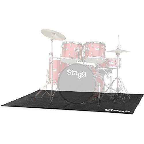 Stagg 21376 Professioneller Schlagzeugteppich mit Tasche (180x150, Teppichstärke: 5 mm)