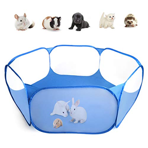 Casifor Guinea Pig Cage Rabbit Cage Indoor with Waterproof Mat Playpen Perfect Size for Small Animal Play Pen Easy to Clean Yard Fence Portable Tent for Hamsters, Chinchillas, Hedgehog, Puppy, Cats