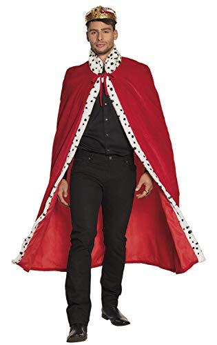 Boland 36101 - Umhang König deluxe, ca. 130 cm, Königsmantel, Cape, Hoheit, Kings and Queens, Mittelalter, Bierkönig, Accessoire, Kostüm, Motto Party, Karneval