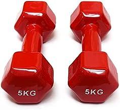 Double Dumbbells Vinyl - 5 KG, Set of 2 Pieces - Red