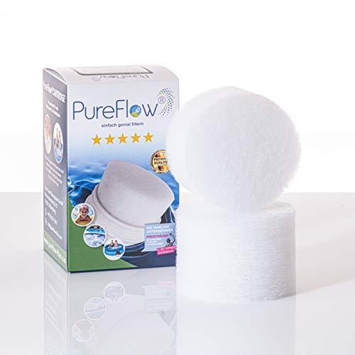 PureFlow PFC-011.010.02 Lot de 2 cartouches filtrantes 3D pour spa – Jaccuzi – Piscine hors-sol, filtre de piscine pour filtre à cartouche – Remplace Intex A modèle 29000