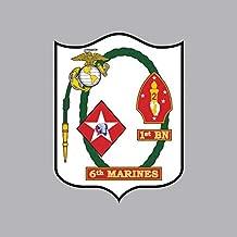 1st Battalion 6th Marine Regiment USMC Sticker Vinyl Decal Sticker Made in USA