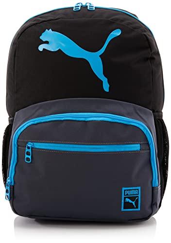 PUMA Kids' Little Boys' Logo, Backpack Black/Blue, Youth Size