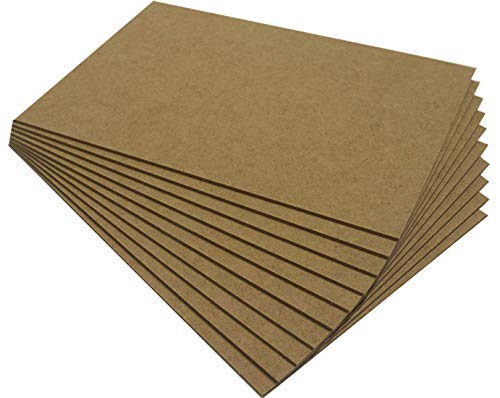 Chely Intermarket tablero madera MDF 50x70 cm 2,5mm (Pack-4 Unds), fabricado a partir de fibras de maderas. Especial para cortes con láser, CNC y Calado.(558-50x70*4-0.85)