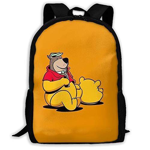 Beating Heart Mochila de la Escuela, Regalo Casual de la Mochila del Viaje del Bolso de Escuela de la Mochila del Oso de Encargo de Winnie Pooh