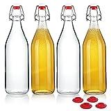 yeboda claro botellas de vidrio con tapón para fermentar cerveza (cerveza Kombucha kéfir...
