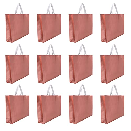 Hemoton 15 peças de sacos de presente reutilizáveis sacolas de compras de supermercado, sacola de TNT com alça Bolsa de itens maior para festa de aniversário de casamento