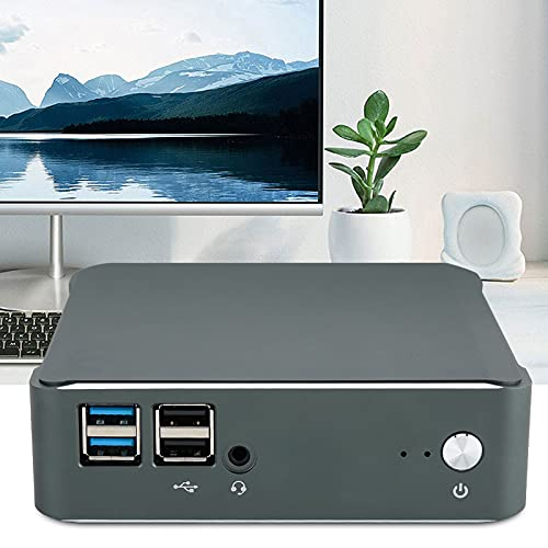 Andraw Mini computadora de la aleación de Aluminio 4GB RAM + 64GB SSD, Mini PC de Alto Rendimiento, para Viajes de(European regulations)