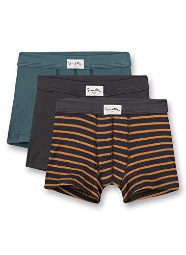 Sanetta Pure Jungen Shorts im Dreierpack aus Bio-Baumwolle, Farbe:Mehrfarbig, Größe:104