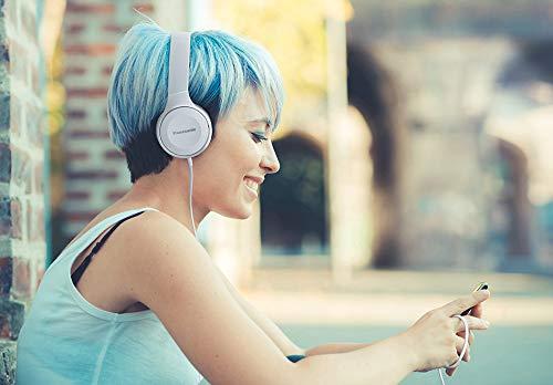 Panasonic RP-HF100ME-W On Ear Kopfhörer (Headset, 10-23.000 Hz, 30 mm Wandler, kompakt zusammenfaltbar) weiß