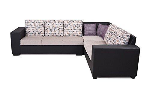 Royaloak Twilight Five Seater Corner Sofa (Black)