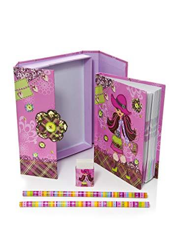 Mousehouse Gifts Fille de Mode Filles Cadeau pour Enfants Ensemble de Cahiers Papeterie