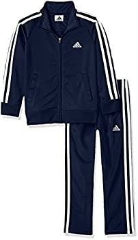 adidas Boys  Toddler Tricot Jacket & Pant Clothing Set Collegiate Navy 3T