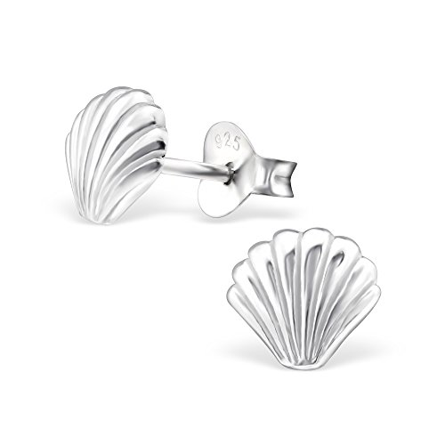 The Rose & Silver Company Women 925 Sterling Silver Sea Shell Stud Earrings