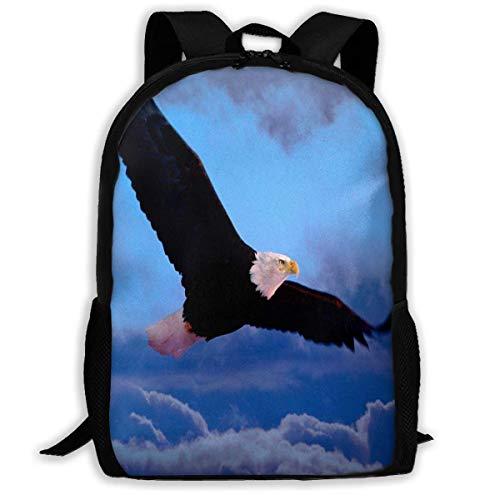 Mochila Eagle Flying Cloud USA con Cremallera, Mochila Escolar, Mochila de Viaje, Bolsa de Gimnasio, para Hombre y Mujer