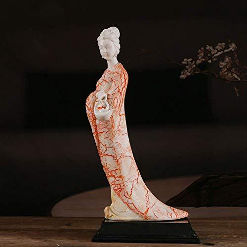 SHIYZII Shiyzi Keramik-Handarbeits-Geschenk, schlank geschlafen, weiblich, Wohnzimmer-Dekoration, chinesisches weißes Porzellan-Zeichen