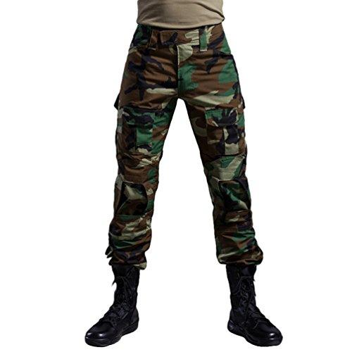 YuanDiann Tactique Pantalon De Camouflage Militaire Multi-Poches pour Homme Jungle 34