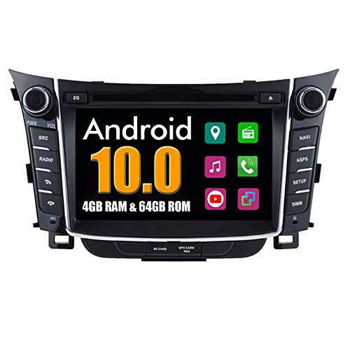 Roverone sistema Android 6.95 Pollici doppio DIN autoradio GPS per Hyundai I30 2012 2013 2014 con navigazione radio stereo Bluetooth SD USB DVD touch screen