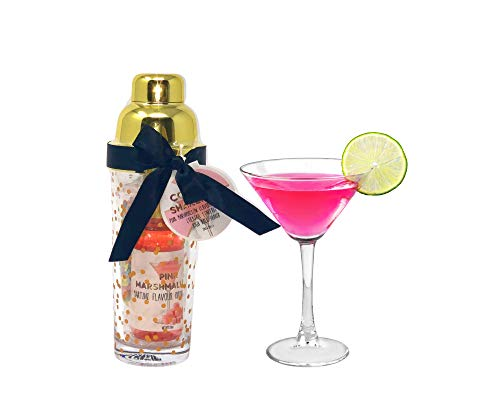 Pink Marshmallow Martini Flavour Drink Mixer, Cocktail Confetti & High Ball...