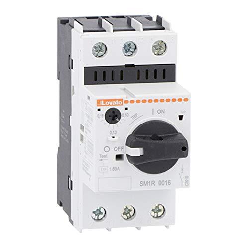 Interruptor guardamotor de mando rotativo, regulación de 30 a 40 A, 4,5 x 8,5 x 9 centímetros, color blanco (Referencia: SM1R4000)