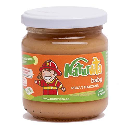Naturvita   Pack 12 Tarritos Infantiles Ecológicos Fruta y