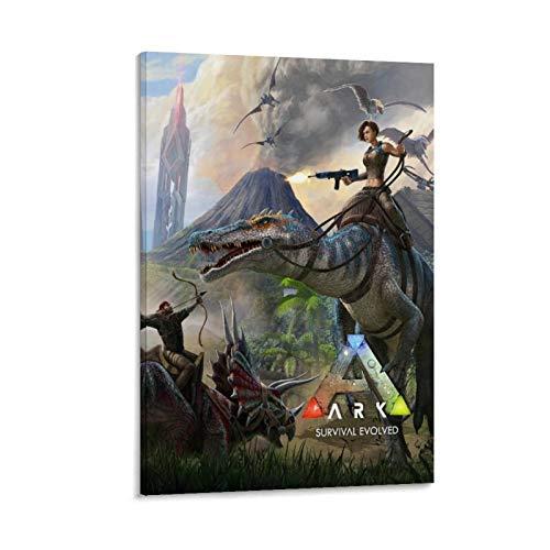 xiaoxiami Ark Survival Evolution Poster, dekoratives Gemälde, Leinwand, Wandkunst, Wohnzimmer, Poster, Schlafzimmer, Malerei, 30 x 45 cm