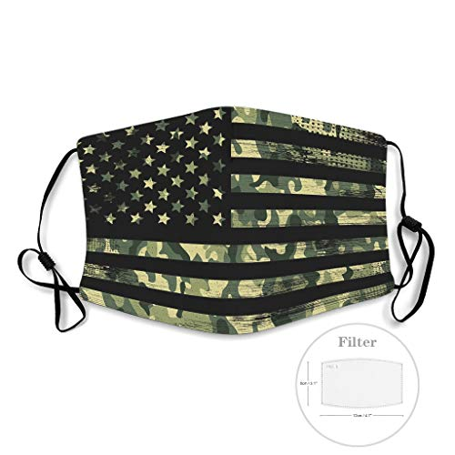 American vlag Vintage Printed Facial Breathable Mouth Muffle for Skiing Theme