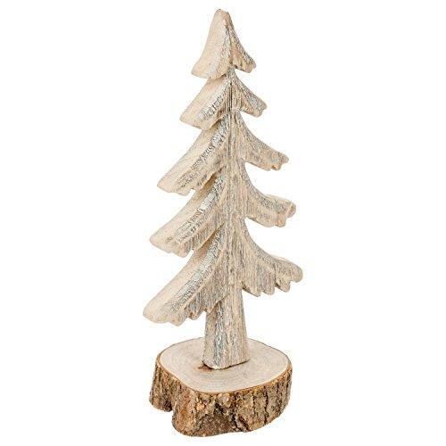 Féérie Lights & Christmas Sapin de Noël Buche - 11,5 x 8,5 x 26 cm - Beige
