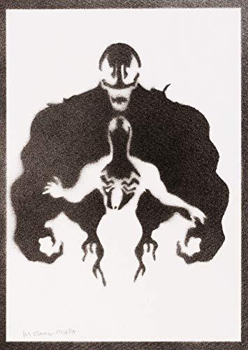 Venom Poster Plakat Handmade Graffiti Street Art - Artwork