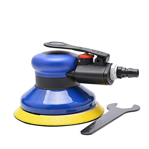 Mozusa Practica portátil neumática de 5 pulgadas de disco neumático pulido a máquina, de 125 mm neumático Máquina de lijado, de mano del papel de lija de pulido Máquinas herramientas de mano industria