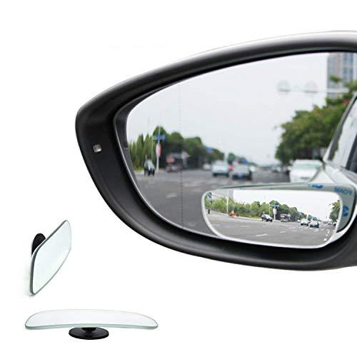 TRUE LINE Automotive Frameless 360 2 Piece Mirror Blind Spot Mirror Kit 360 Degree Adjustable Ultra Safety Stick on