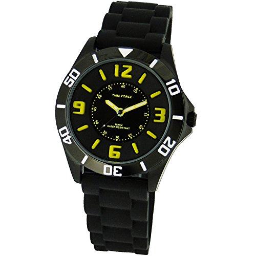 TIME FORCE Reloj De Pulsera Tf-4111B09 Cadete Acero 100M Negro
