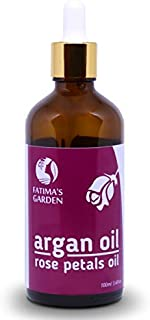 Fatima's Garden Argan Oil for Face, Hair, Skin and Nails, Moroccan Oil USDA Ecocert Certified Organic Pure Virgin Cold Pre...
