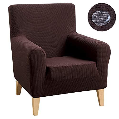 ChicSoleil Sessel-Überwurf Elastisch Sesselschoner Stretch Jacquard Sofabezug Sesselbezug Wasserabweisende Husse für Sessel Clubsessel Loungesessel Fernsehsessel