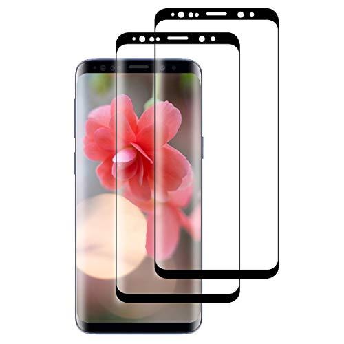 XSWO [2 Pezzi Vetro Temperato Galaxy S8, Protezione Schermo Samsung Galaxy S8 [3D Curvo Copertura Completa] [Anti-Graffi] [Senza Bolle] [Facile Installazione] Pellicola Protettiva Vetro S8