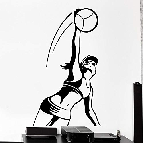 Volleyball FIVB Wandtattoo sexy Sport Mode Mädchen Spike Frauen Vinyl Wandaufkleber Teenager Schlafzimmer Schlafsaal Stadion GYM Dekoration Kunst Wandbild