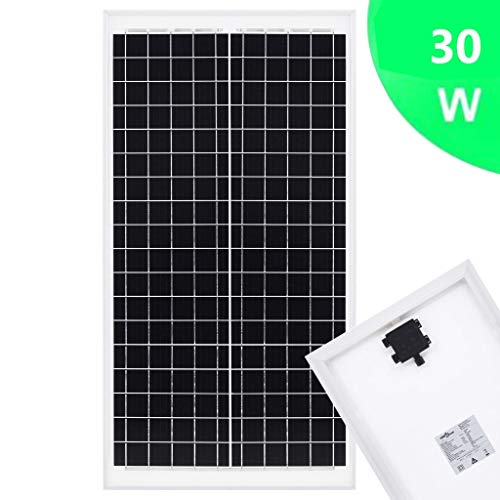Festnight Solarmodul 10 W Polykristallin Aluminium und Sicherheitsglas Solar Polykristallin Solarzelle