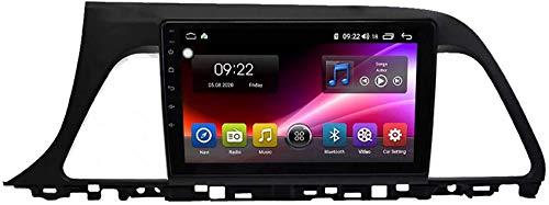 Car Stereo Android 10.0 Radio compatible Hyundai Sonata 7 2014-2017 Navegación GPS Unidad principal de 9 pulgadas Pantalla táctil Reproductor multimedia MP5 Receptor de video con 4G WiFi Car In-Dash