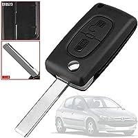 OcioDual Mando Llave Funda Carcasa CE0523 HU83 Key Case para Peugeot 206 207 306 307 308 407 607 806, Citroen C2 C3 C4 C5 C6