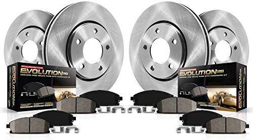 Pro Stop Ceramic Brake Pads Front and Rear For 2009-2012 Dodge Journey