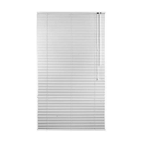 CONCEPT DECOR Tenda Veneziana in Alluminio Oscurante Dimensioni, Perfetta per Ufficio, Studio, Cucina, Bagno e Soggiorno (Bianco, 80 x 240 Cm)