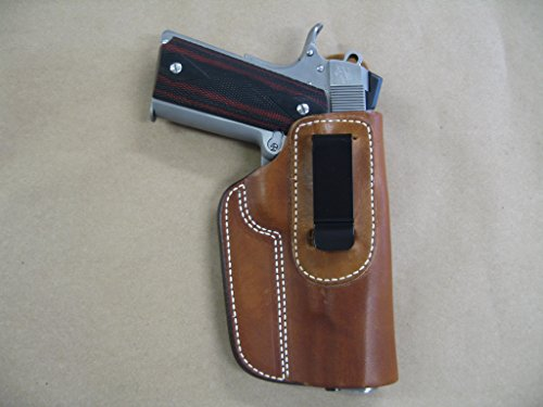 Rock Island 1911 Full Size 5' IWB Leather in The Waistband Concealed Carry Holster TAN RH