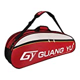 RUIXIA Sac de Raquette Tennis Badminton Sac de Grande Capacité pour 6 Raquettes Sac d'équipements de Tennis Sac de Transport Sac à l'épaules avec Poche de Chaussures