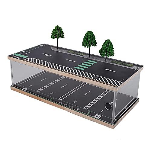 SunniMix Modelo de Escena de Estacionamiento de Paisaje a Escala 1/32 Modelo de Coche Regalos de Escritorio