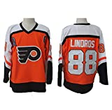 Yajun Eric Lindros#88 Philadelphia Flyers Camisetas Hockey Jersey sobre Hielo NHL Hombre Ropa Respirable T-Shirt de Manga Larga,Orange,L