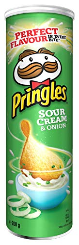 Sales Tradings Limited Pringles Sour Cream and Onion Crisps, 6x200 g