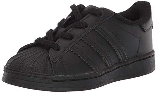 adidas Originals Unisex-Baby Superstar Shoes Sneaker, Black/Black/Black, 8.5K