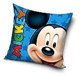 Mickey Mouse - Cojín completo de Mickey Mouse, cojín cuadrado de 40 x 40 cm